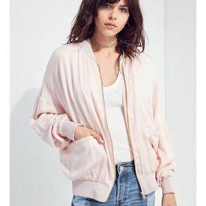 UO eve dolman pink bomber jacket